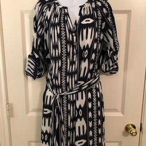Banana Republic Navy Ikat Dress